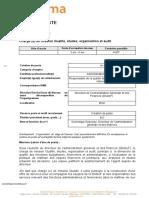 SIEGE Dagef - Charge e de Mission Qualite Etudes Organisation Et Audit
