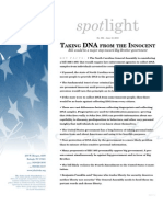 Spotlight 392 Taking DNA from the Innocent