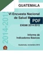 VI Encuesta Nacional de Salud Materno Infantil ENSMI 2014-2015