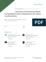 2013 - Duque Jaramillo Et Al. - Liquid-liquid Extraction of Pectinase Produced by Aspergillus Oryzae Using Aqueous Two-phase Micellar Sy