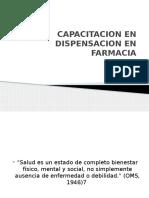 Capacitacion en Dispensacion en Farmacia
