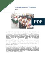 Anata Andina Es El Agradecimiento a La Pachamama
