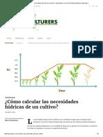 ¿Cómo calcular las necesidades hídricas de un cultivo.pdf