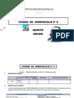 UNIDAD DE APRENDIZAJE 5° GRADO DE ED. PRIMARIA OCTUBRE 2016