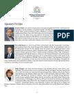 Speakers Profiles
