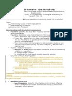 12 - Molecular Evolution Notes 2015