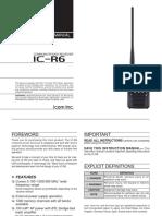 IC R6 Instructionmanual