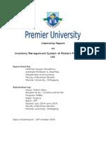 First Part of Internship Report of premier university