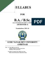 BA BSC Semester IA
