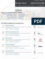 Vault.com Best Consulting companies to work for Most Prestigious Consulting Firms