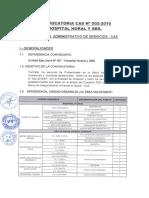 CONVOCATORIA HOSPITAL HUARAL-RED DE SALUD HUARAL CHANCAY