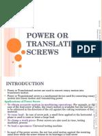 Design of Power Screws