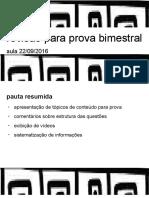 Revisão Para Prova Bimestral 22092016