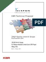 Coal Gasification for DRI - KBR Technoligy