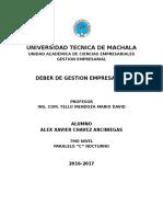 Gestion Empresarial - XAVIER CHAVEZ
