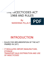 The Insecticides Act 1968 and Rules