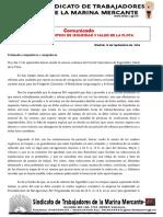 33. Comunicado Comité Intercentros Seguridad y Salud de Flota