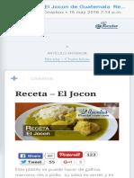 Receta Para El Jocon de Guatemala Recetas Mundo Chapin