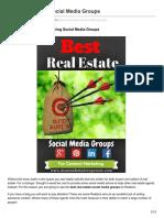 Popular Real Estate Social Media Groups