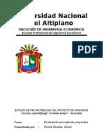 Estudio de Pre Factibilidad - Hotel Pucara