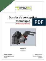 Dossier de Conception Mécanique