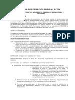 Modulo Escuela Sindical Historia Del Sindicalismo