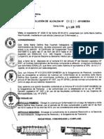 RESOLUCION DE ALCALDIA 124-2010/MDSA