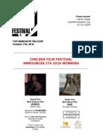 El Chelsea Film Festival anuncia a sus ganadores del 2016