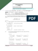 Modulo de sistema de ecuaciones lineales  2° Medio 2011