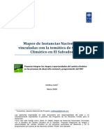 Mapeo de Instancias Nacionales vinculadas con la temática de Cambio Climático en El Salvador