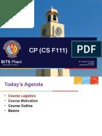CSF111-L1 L2 L3 Introduction