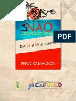 Programa La Nao Acapulco 2016
