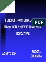 II Encuentro Internacional de Tecnologia y Nuevas Tendencias Educativas