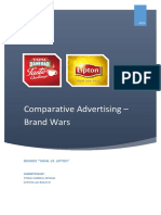 Term Project - Comparative Advertising – Brand Wars