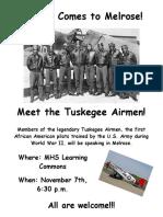 Tuskegee Airmen poster 2