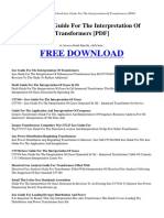 Ieee Guide for the Interpretation of Transformers