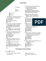 Historia exameno primari 4°