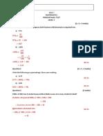 percentage test - level 7 and 8 marking scheme