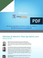 Altmetrics for Librarians