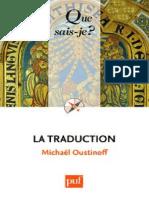 La Traduction - Oustinoff Michael