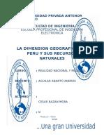 Trabajo La Dimension Geografica Del Peru y Sus Recursos Naturales