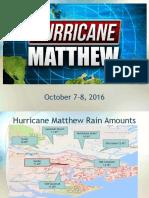 CEMA Hurricane Matthew Presentation