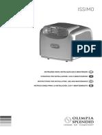 Manual Ar condicionado Portatil 14000BTUs New Issimo