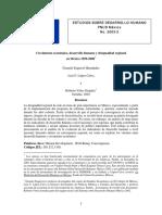 Crecimiento Económico, Desarrollo Humano y Desigualdad Regional - PNUD