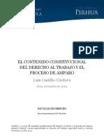 Contenido Constitucional Derecho Trabajo Proceso Amparo