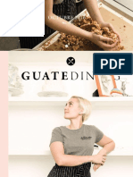 Colaboración en la revista Guatedining - Edición 33 - Octubre 2016