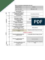 Cronograma de Actividades de Microbiología 2016