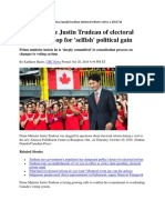 CBC Covering Up Justin Trudeau's Very Predicable ERRE Flip-flop