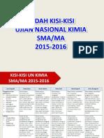 Bedah Kisi Kisi Un Kimia Sma Ma 2015 2016