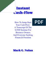 Instant Cashflow by Mark G Nolan